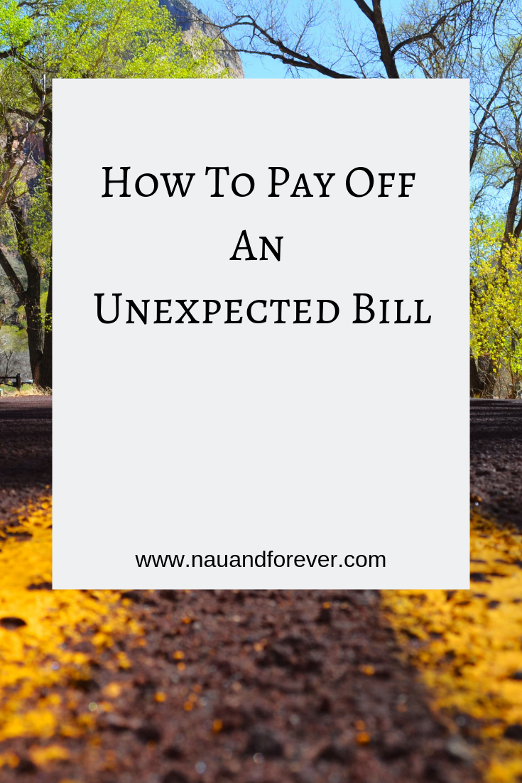 How To Pay Off An Unexpected Bill