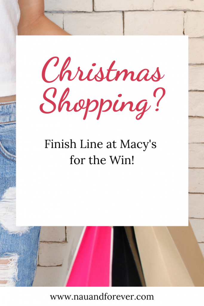 christmas shopping? Finish Line at Macy's for the win!